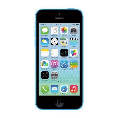 Apple iphone 5c front blue image