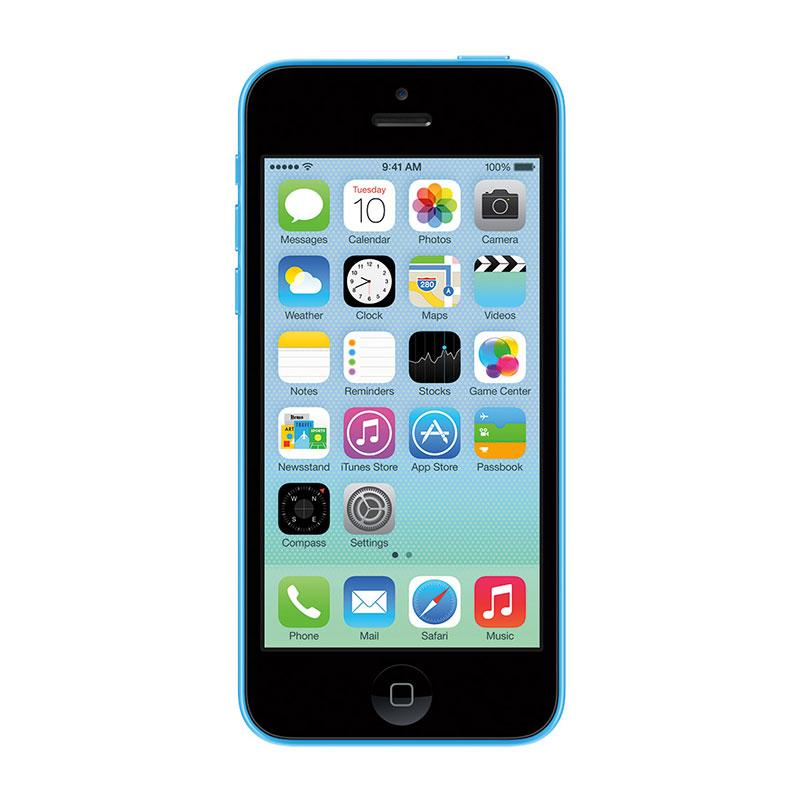 Apple iphone 5c front blue image