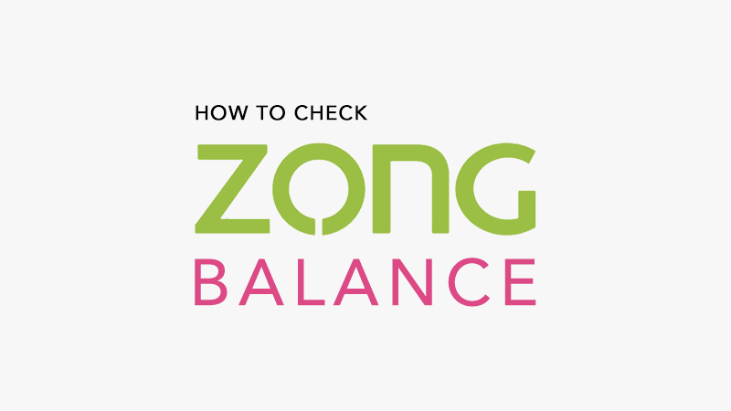 check Zong Balance with Code